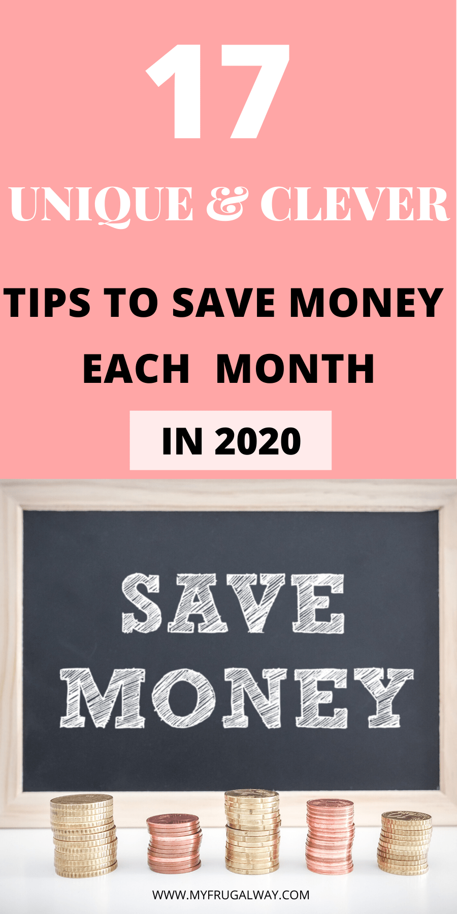 Looking for budgeting tips in 2020 to get hold of your finances. These 17 unique and clever frugal living tips will help you save money each month so you can live a debt-free life. Take control of your finances. #savemoney #finances #money