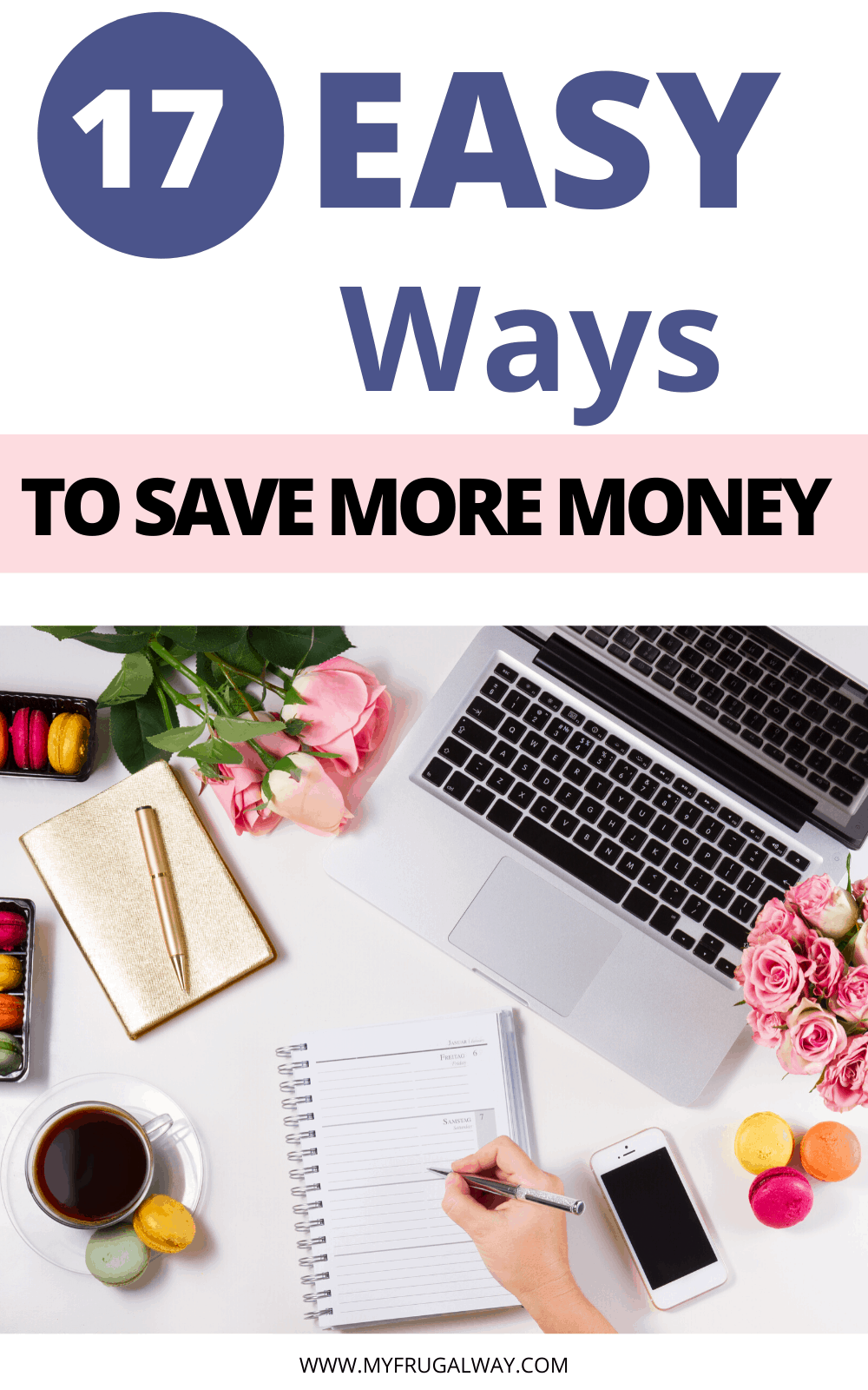 Are you struggling financially and looking for easy money saving tips to help you save more money while living paycheck to paycheck. Learn how to save money on a low income with these 17 genius tips. #finances #frugalliving #money #savemoney