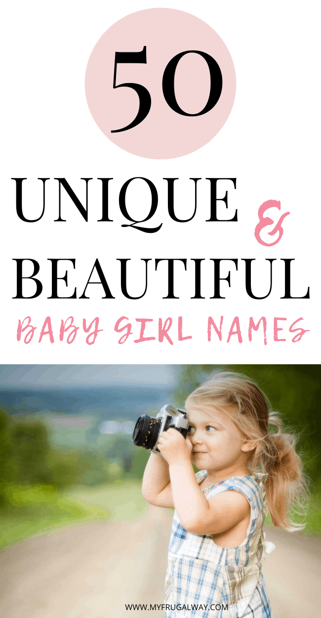 Cute and unique baby girl names for the modern mom in 2020. 50 Feminine Baby girl names that are rare and pretty. #babygirl #newborn #modernmom #motherhood #babynames #mom #pregnancy